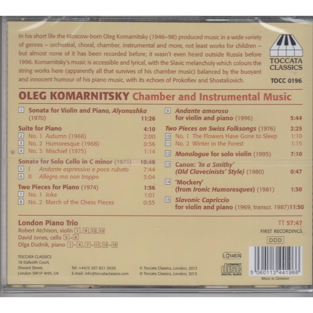 Oleg komarnitsky chamber and instrumental music cd new by London Piano  Trio, CD with rarervnarodru