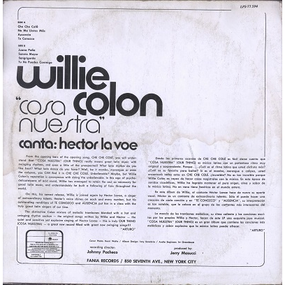 Willie Colon Cosa Nuestra