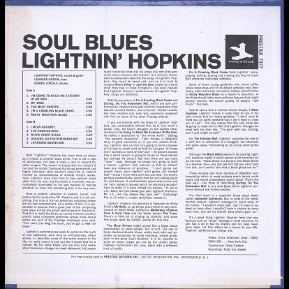Lightnin' Hopkins Soul Blues
