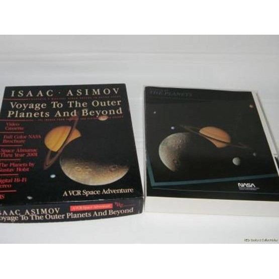 iSAAC ASIMOV Voyage to the Outer Planets and Beyond 1987 A VCR Space Adventure Isaac Asimov