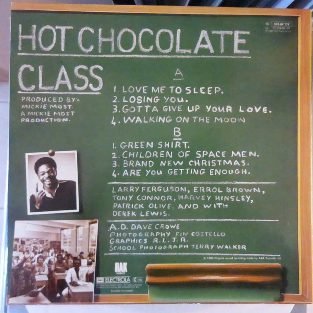 Class by Hot Chocolate, LP with blackcircle