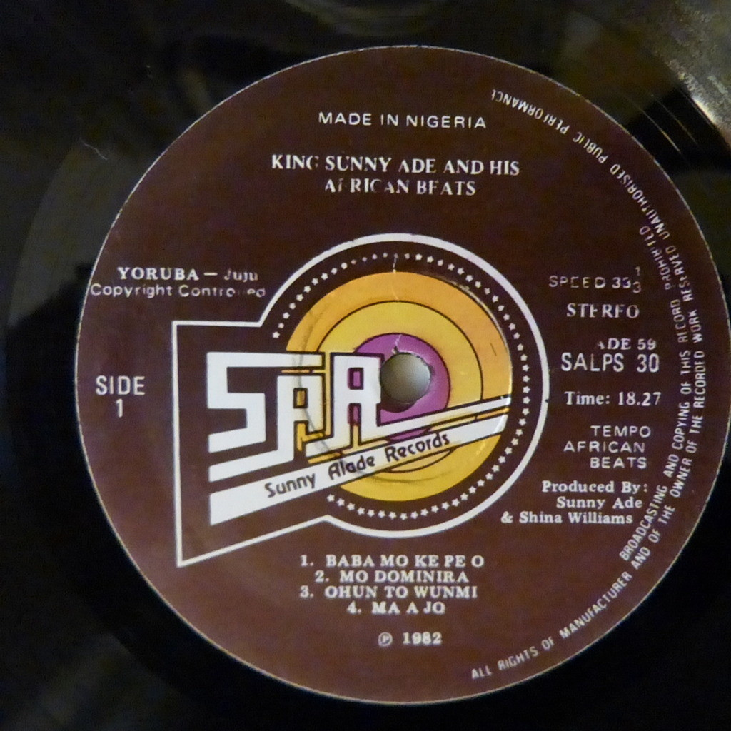 KING SUNNY ADE AND HIS AFRICAN BEATS MA A JO