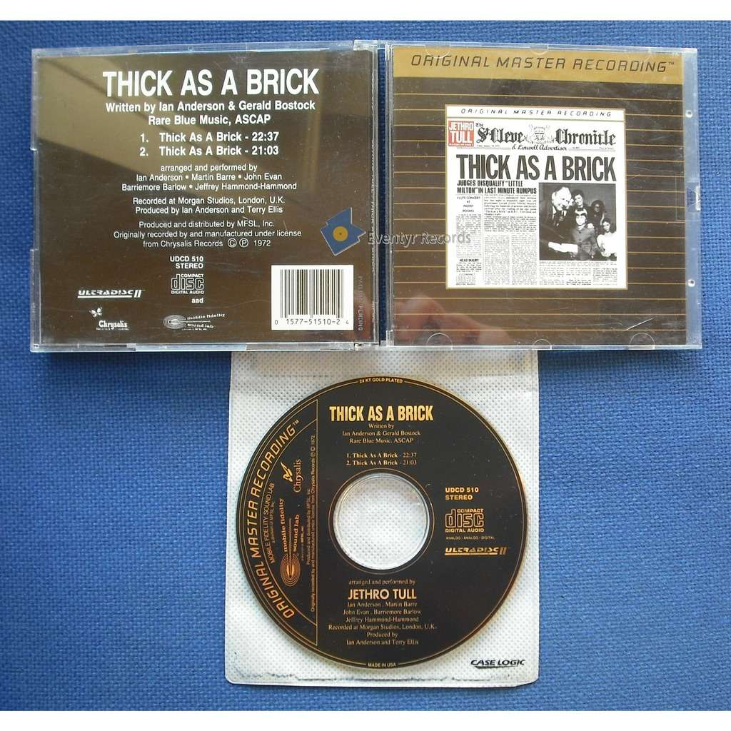 Jethro Tull Thick As A Brick (MFSL) (used)