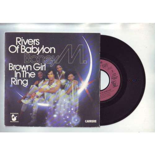 boney M - rivers of babylon - brown girl in the ring - disque 45 tours