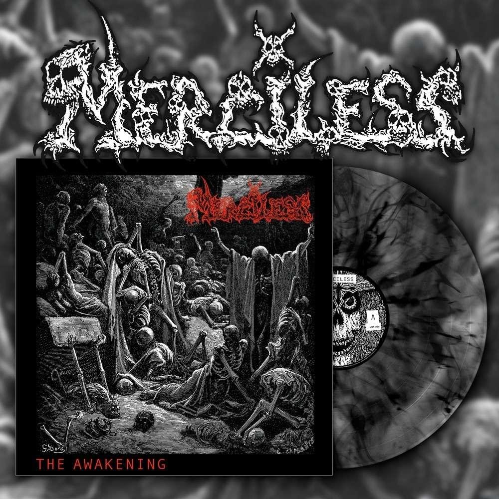 MERCILESS The Awakening. Black Marble Vinyl