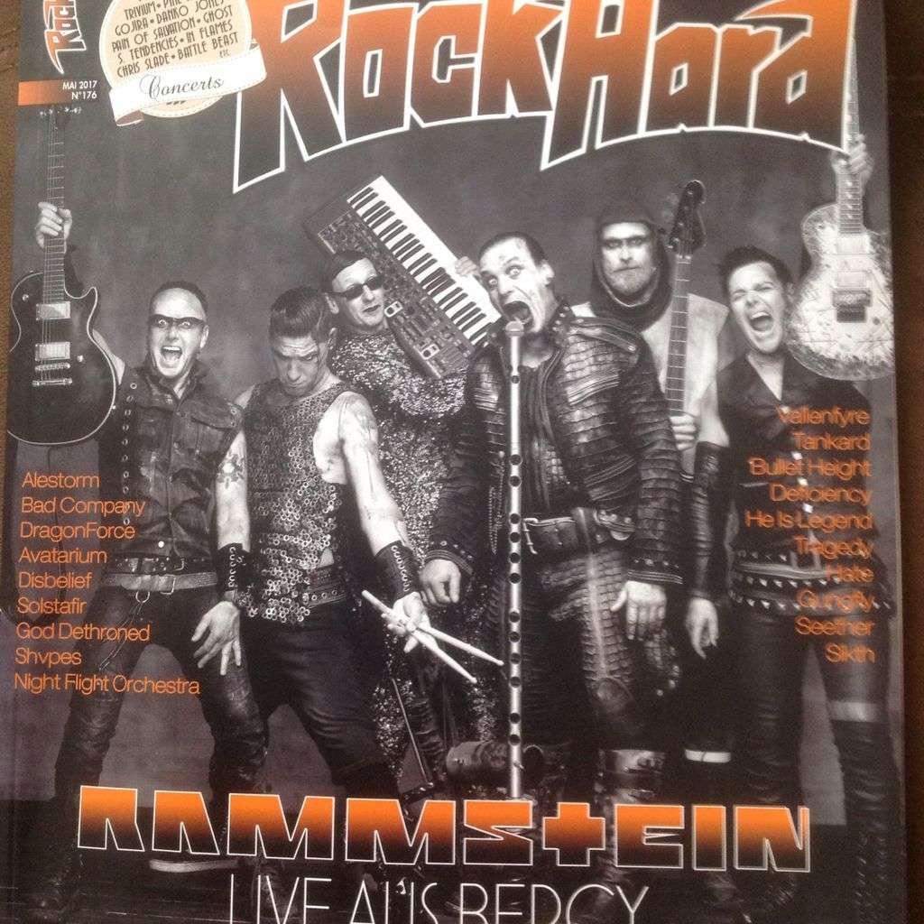 rammstein magazine rockhard numero 176
