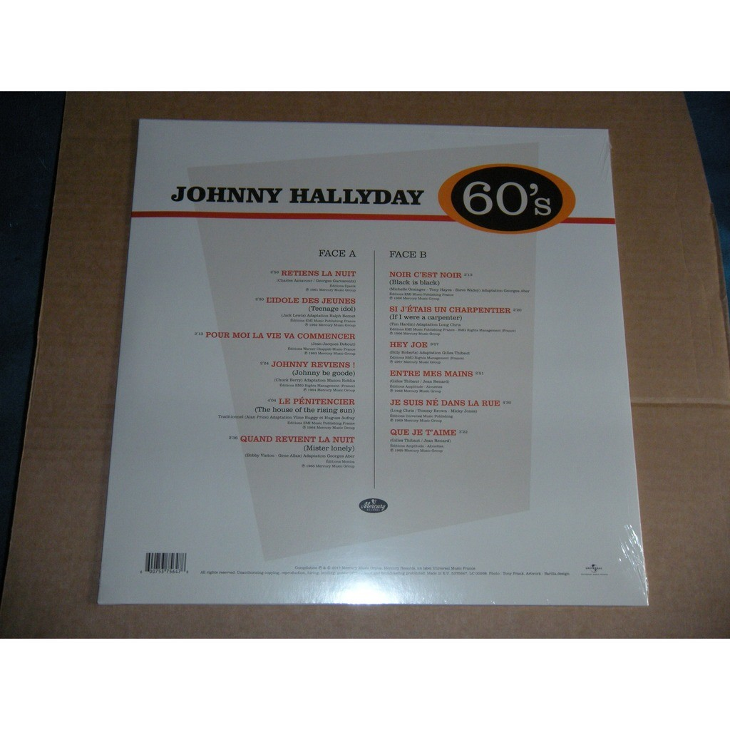 JOHNNY HALLYDAY BEST OF 60's