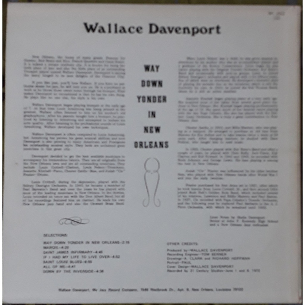 wallace davenport way down yonder in new orleans