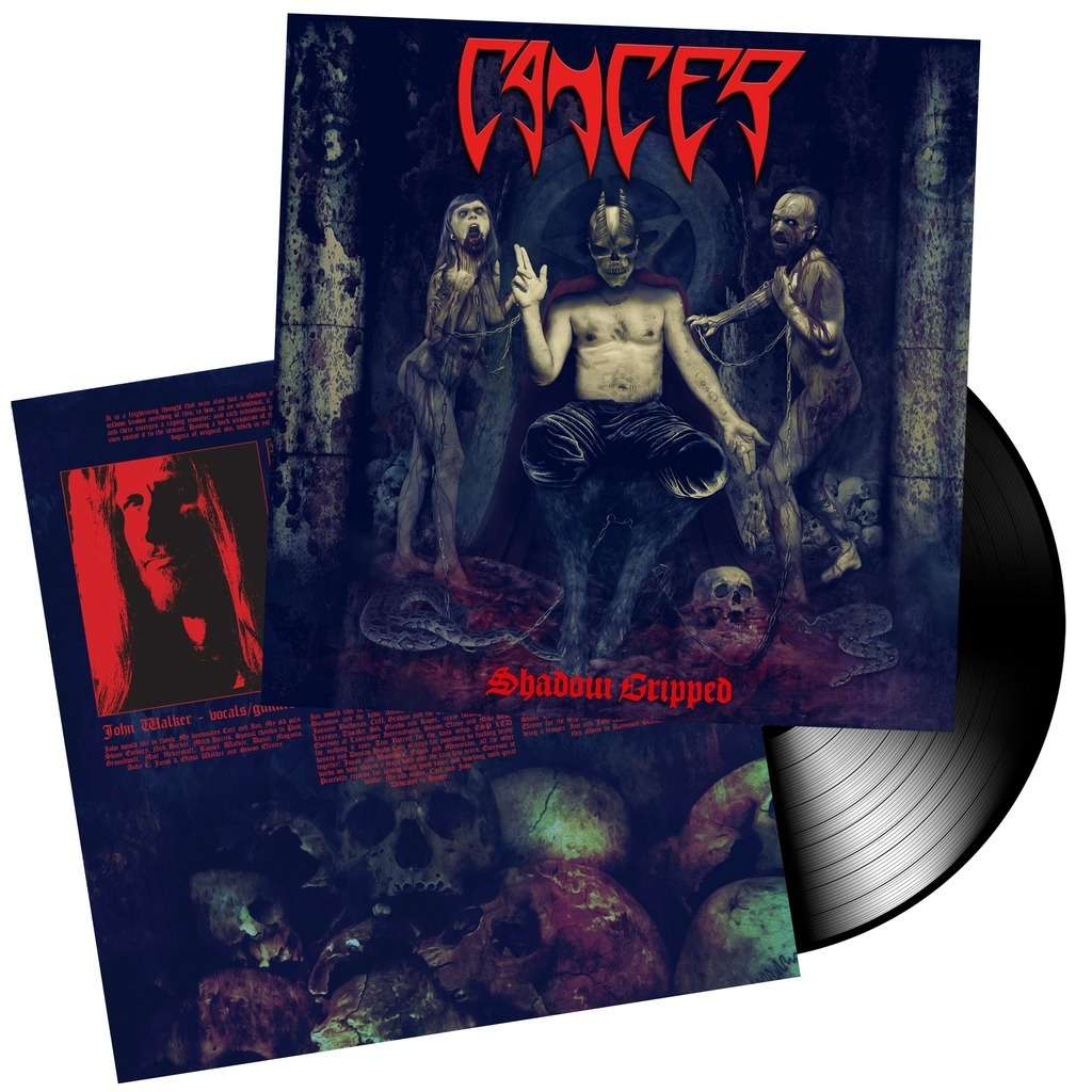 CANCER Shadow Gripped. Black Vinyl