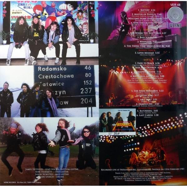metallica Live in Gothenburg 1987