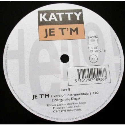 KATTY je t'm (promo)