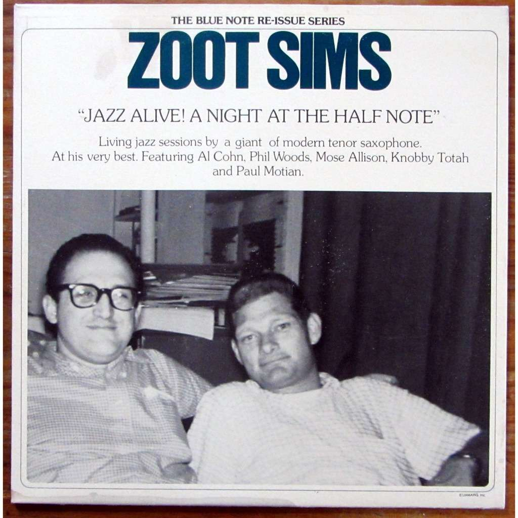 Zoot Sims ‎ Jazz Alive! A Night At The Half Note