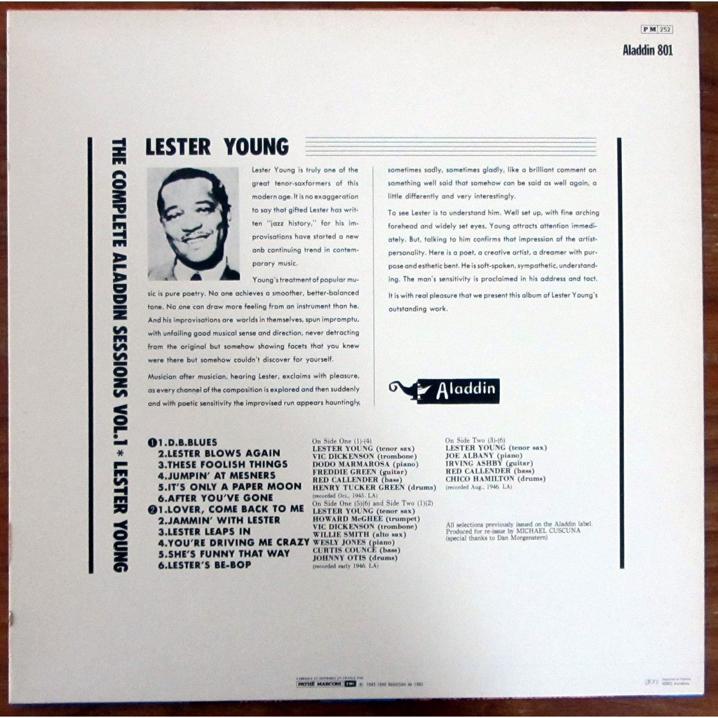 Lester Young And His Tenor Sax. Vol.1