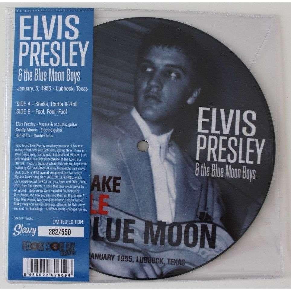 elvis presley 1 vinyl 45 picture disc fool fool fool / shake rattle and roll
