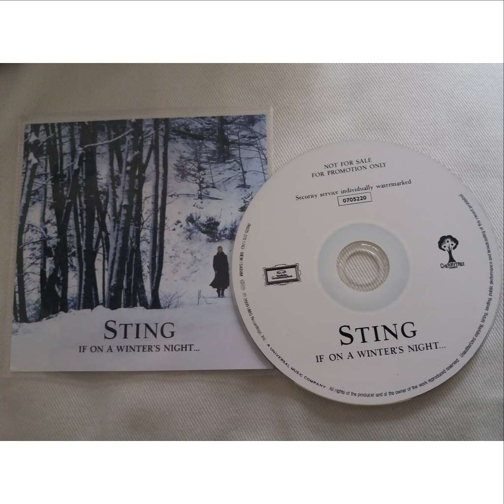 Sting promo cd Album Numerote If On A Winters Night