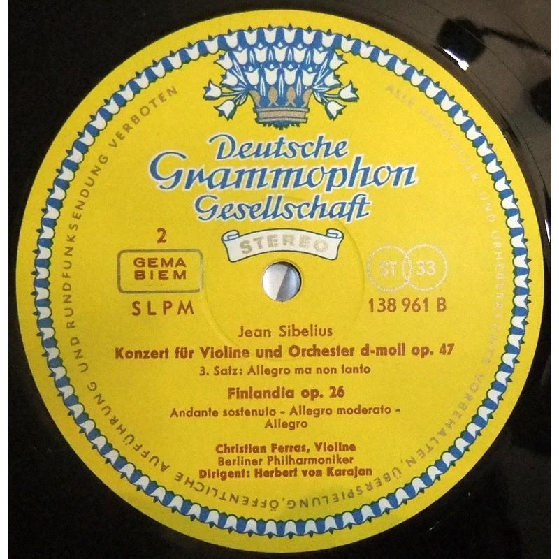 CHRISTIAN FERRAS Jean Sibelius : Concerto pour Violon - Finlandia