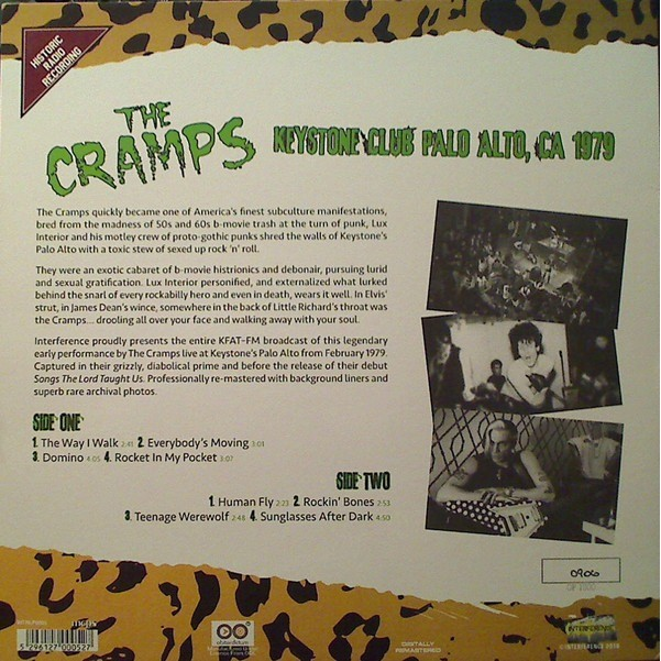 The Cramps Keystone Club Palo Alto, CA 1979
