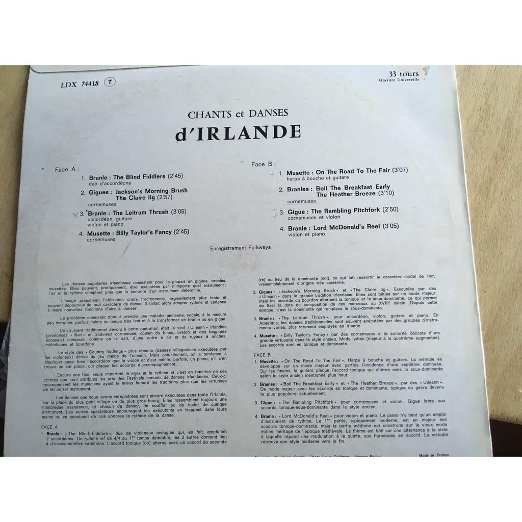 musique irlandaise chants et danses d'irlande