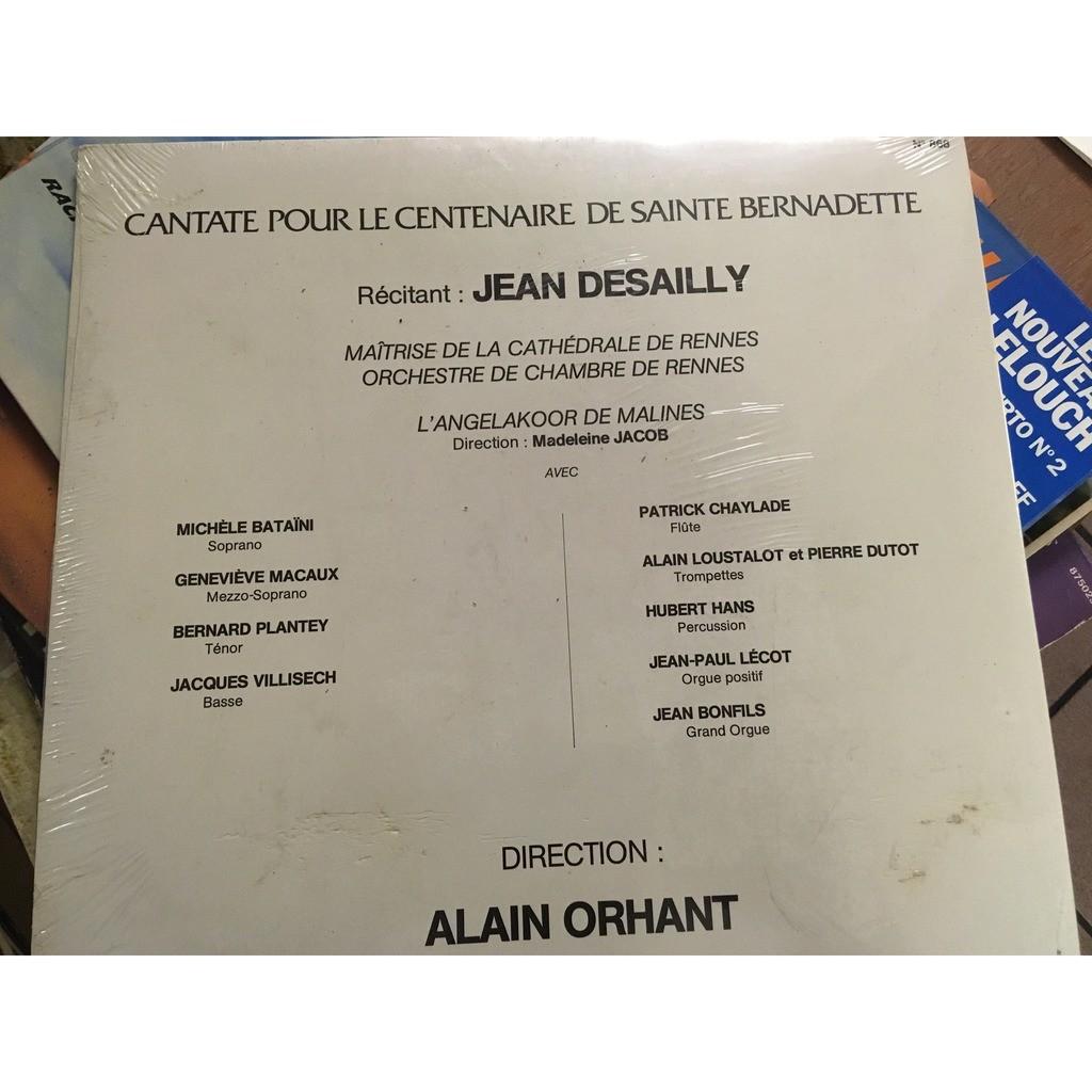 alain orhant cantate pour le centenaire de sainte bernadette