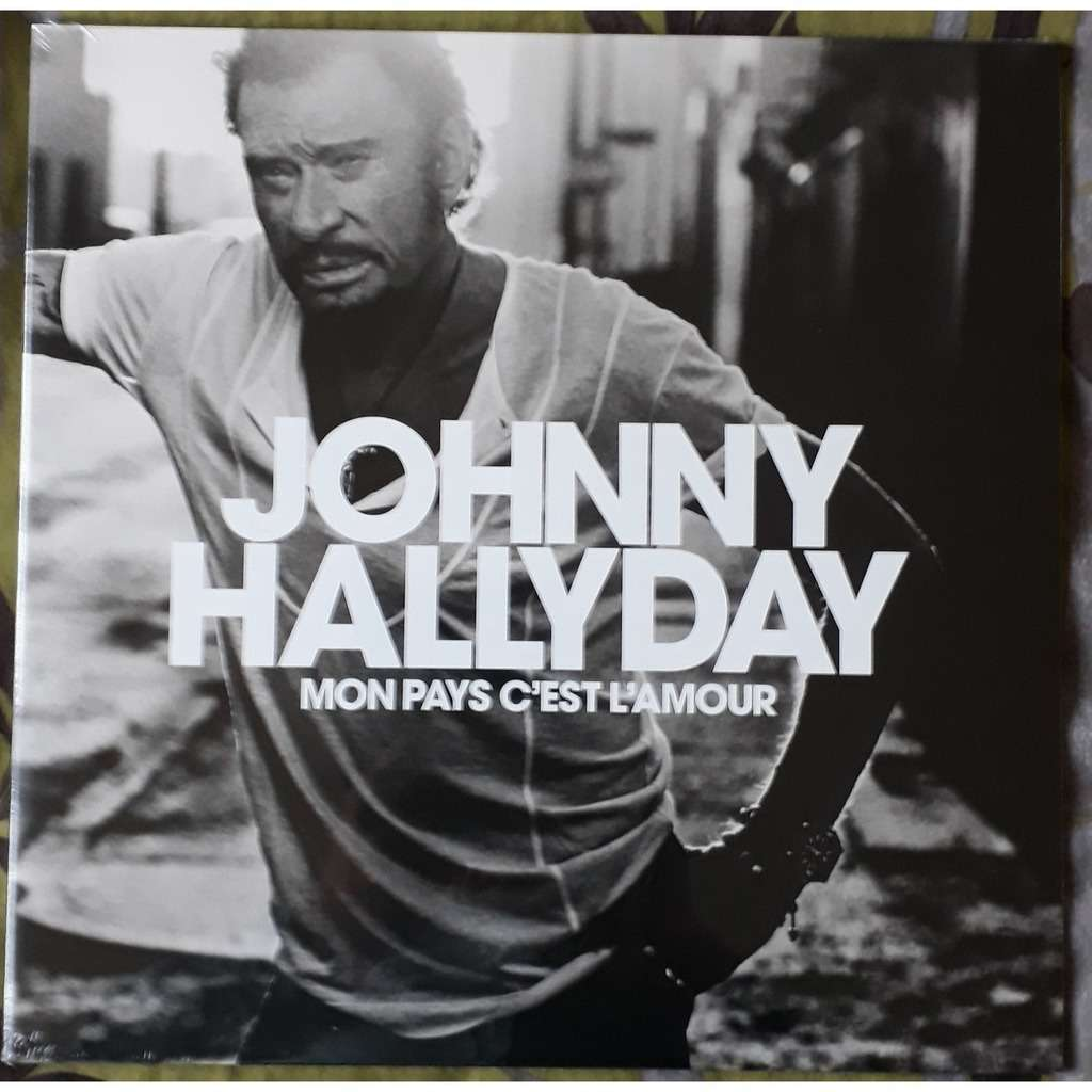 johnny hallyday mon pays c'est l'amour ( BLANC )
