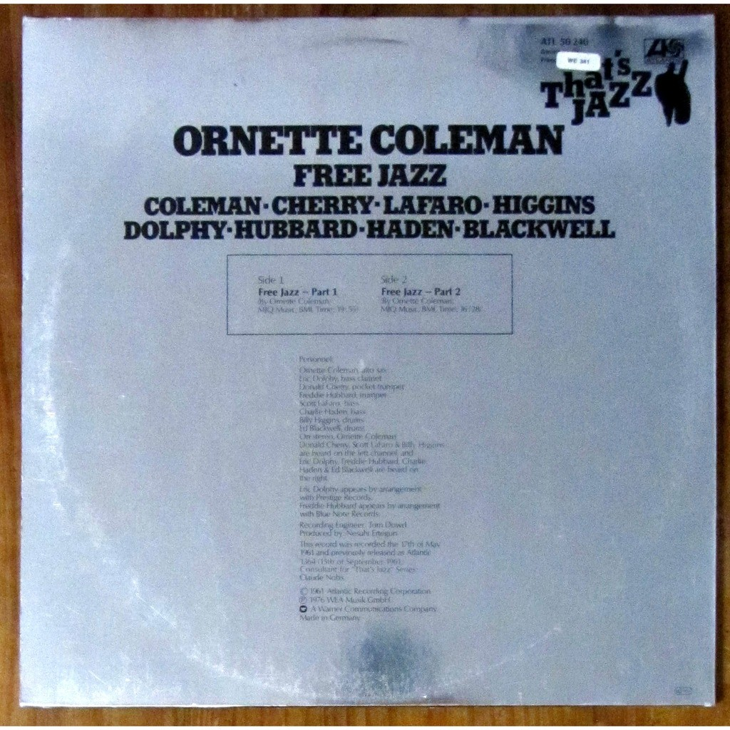 Free jazz by Ornette Coleman, LP with vincentp8