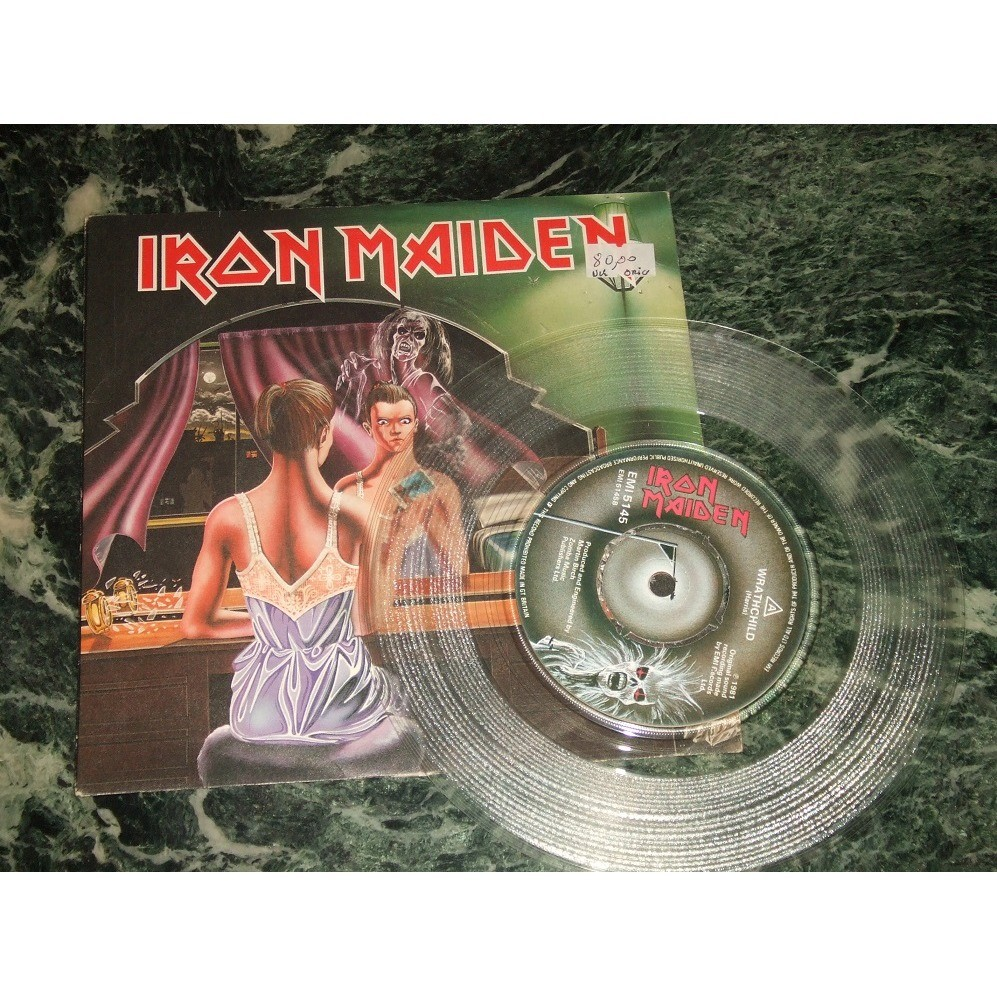 Iron maiden Twilight Zone / Wrathchild (Clear vinyl)