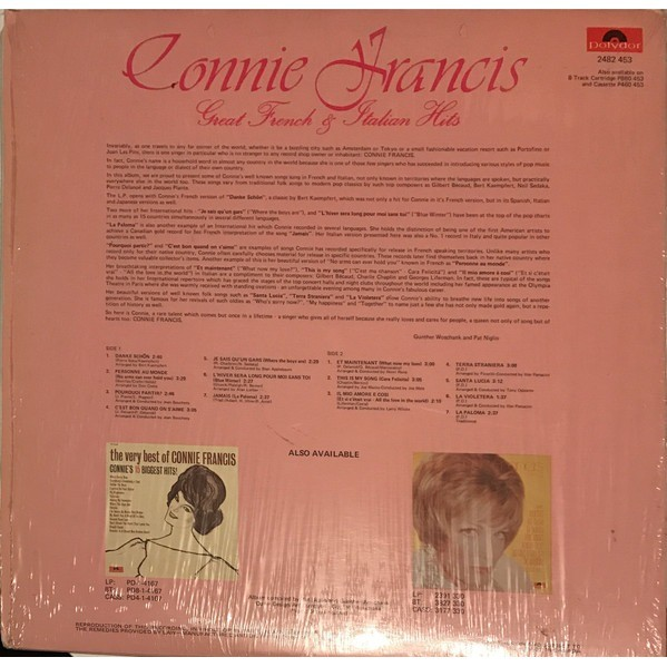 connie francis Great French & Italian Hits
