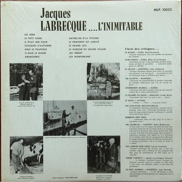 JACQUES LABRECQUE L'INIMITABLE