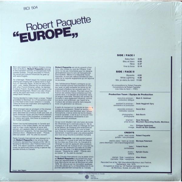robert paquette EUROPE