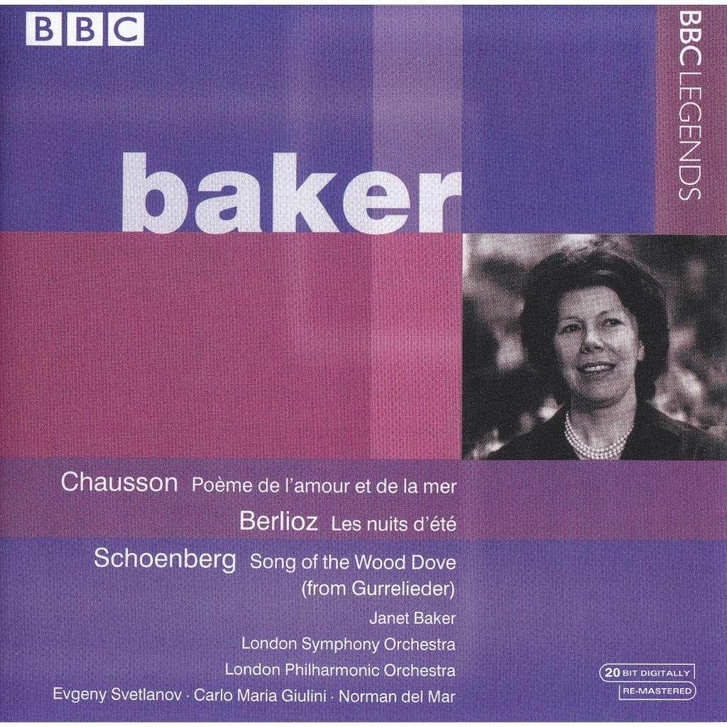 Chausson Berlioz Schoenberg Poème De Lamour Et De La Mer Les Nuits Dété Gurrelieder Janet Baker Svetlanov Giulini Mar