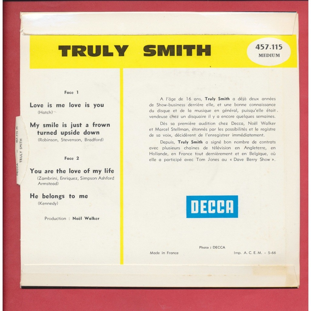 TRULY SMITH love is me love is you - my smile is just a frown turned upside down - you are the love of my life