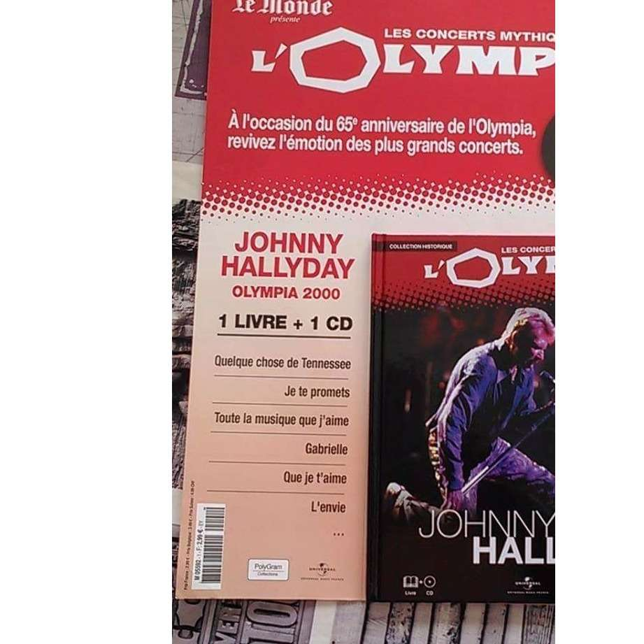 HALLYDAY JOHNNY Les Concerts Mythiques De L'Olympia Johnny Hallyday Juillet 2000