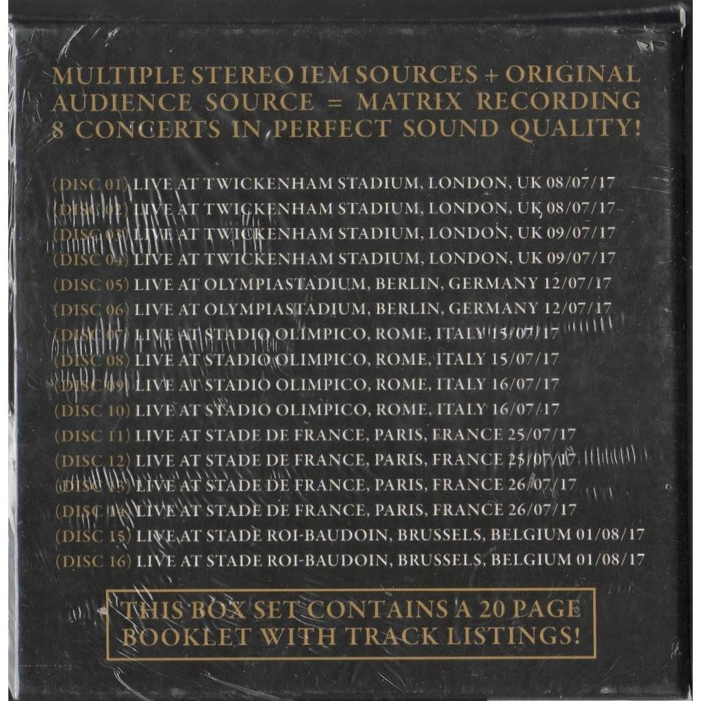 One europe - the joshia tree tour 2017 (iceland records lbl ltd 300 no'd  copies live 16cd box+book!) by U2, CD box with gmvrecords