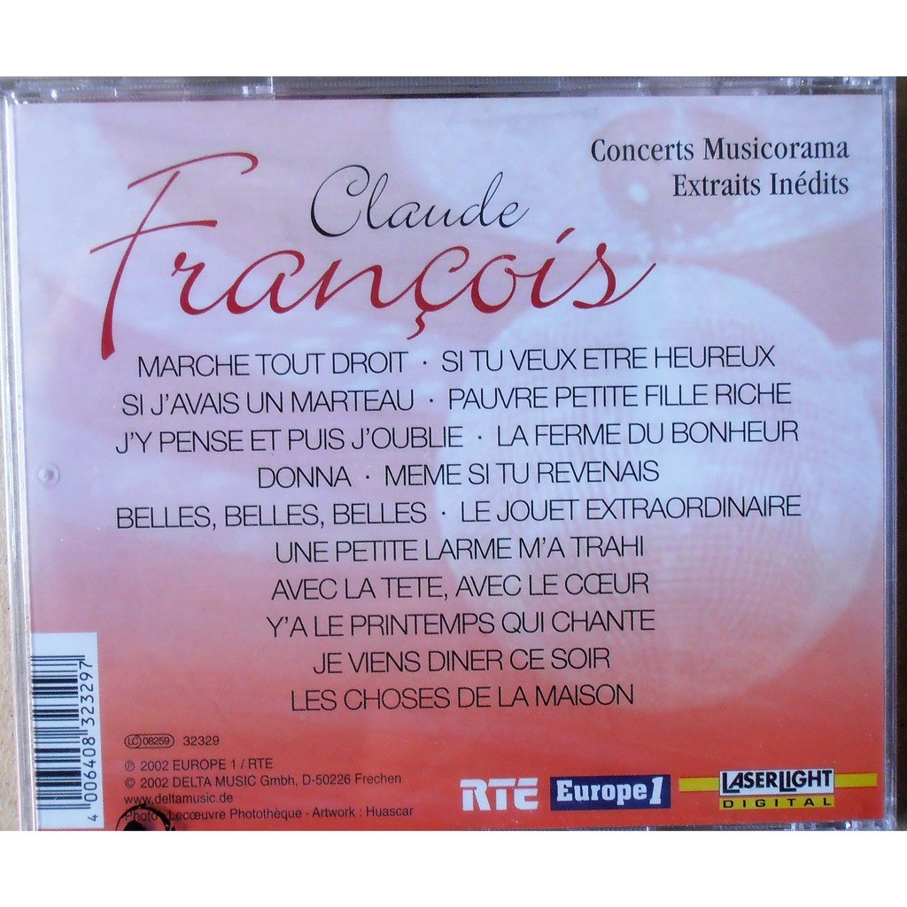 Claude Francois Concerts Musicorama