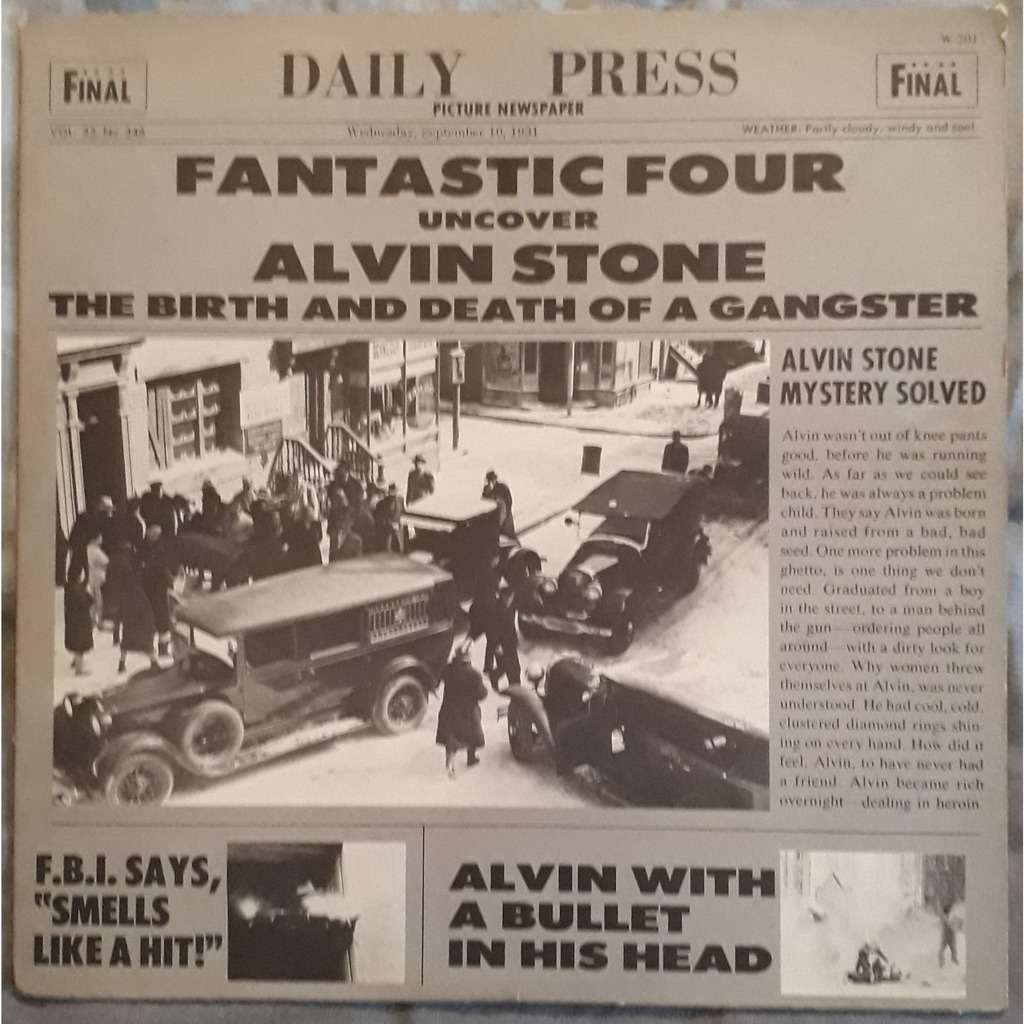 fantastic four alvin stone ( the birth and death of a gangster)