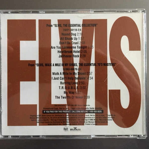 elvis presley ELVIS PRESLEY ESSENTIAL COLLECTION & 70'S MASTERS PROMO