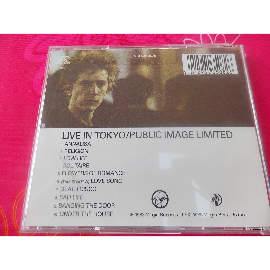 public image limited live in tokyo