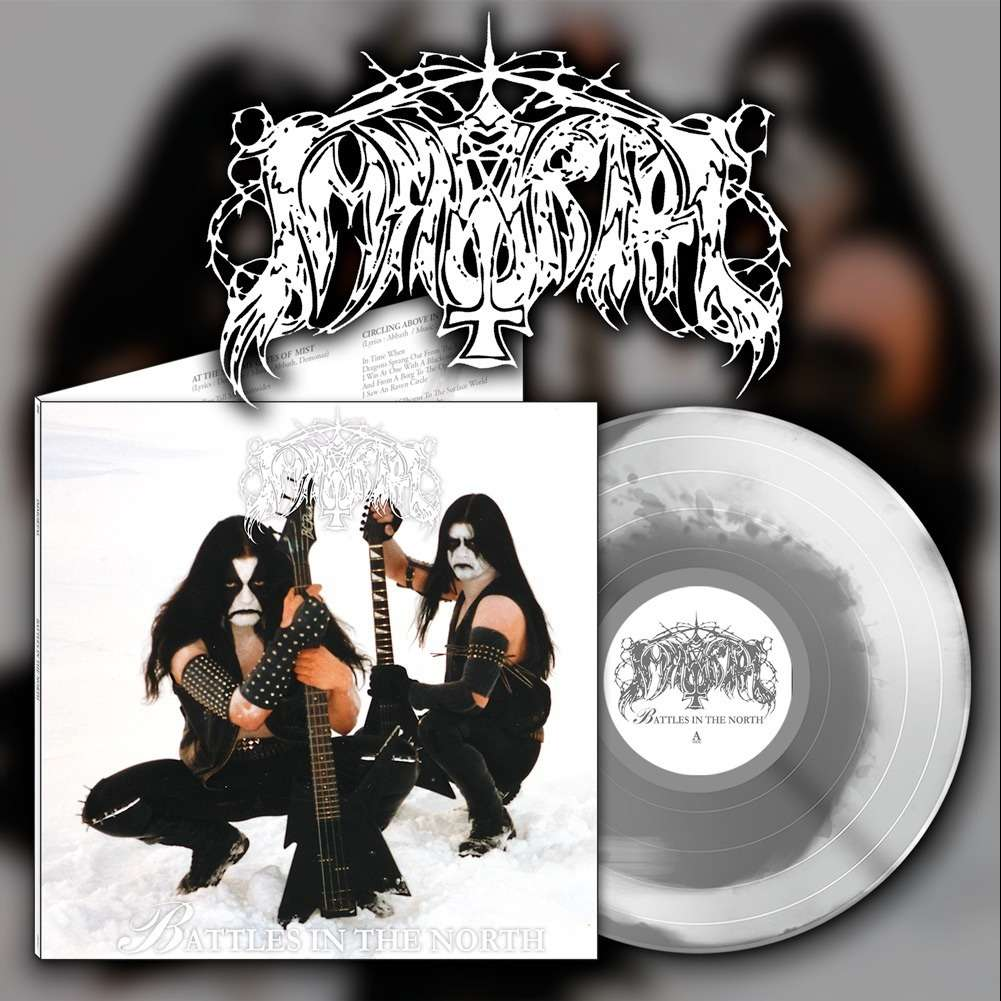 IMMORTAL Battles in the North. White&Silver Vinyl