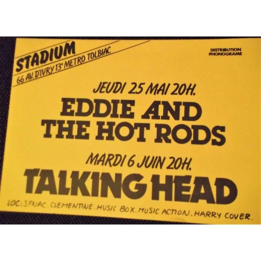 talking heads Le Stadium (Ave d'Ivry) Paris 25.05.1978 (French 1978 original promo concert punk poster flyer!)