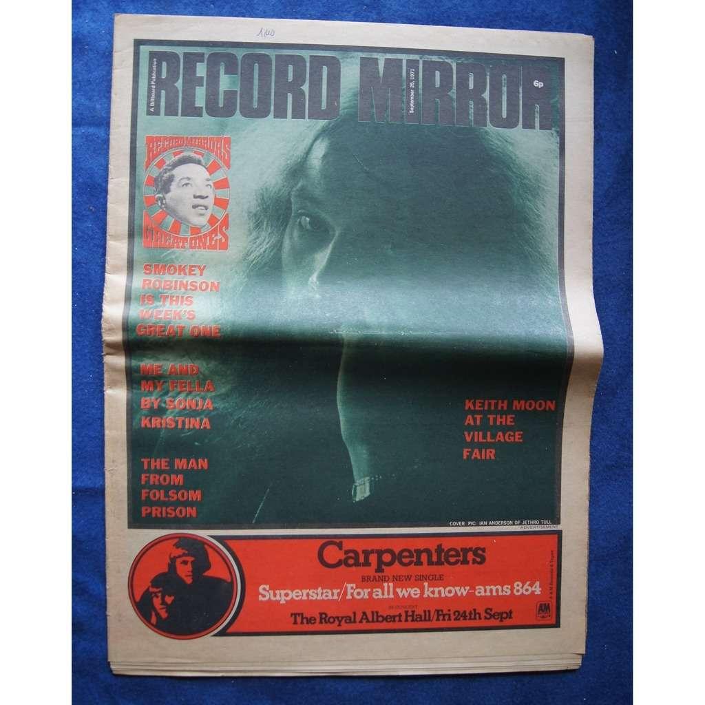 JETHRO TULL / IAN ANDERSON RECORD MIRROR 1971