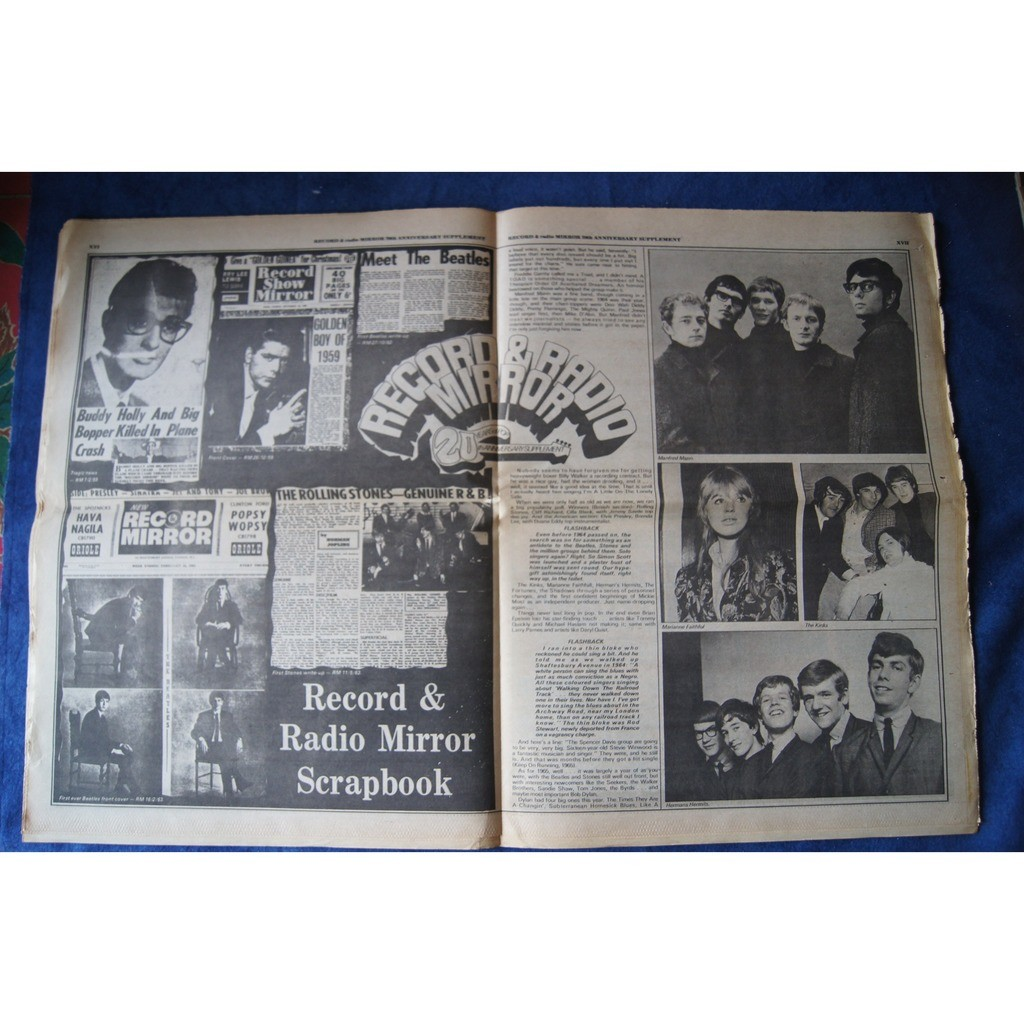 VARIOUS RECORD MIRROR 20th ANNIVERSARY SUPPLEMENT 1974
