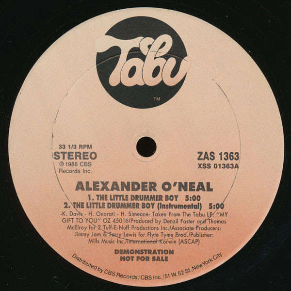Alexander O'Neal The Little Drummer Boy / Sleigh Ride