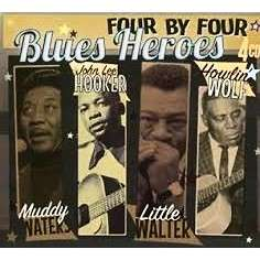 MUDDY WATERS / J.L. HOOKER / HOWLIN' WOLF / LITTLE FOUR BY FOUR BLUES HEROES (4 x cd / 100 tracks)