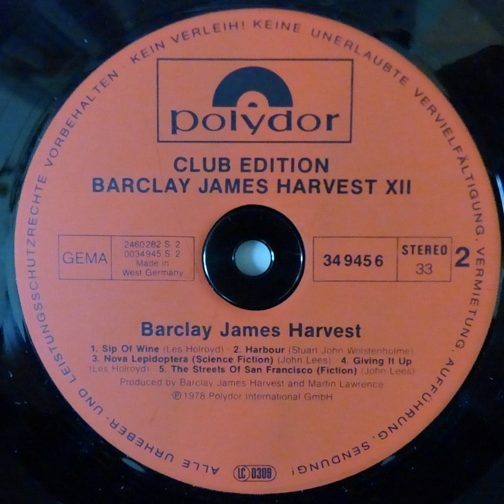 BARCLAY JAMES HARVEST XII