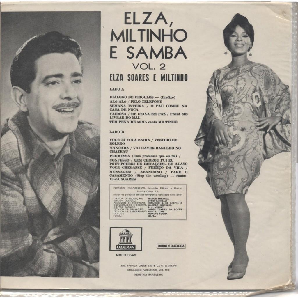 ELZA Soares - MILTINHO (Milton Santos de Almeida) Elza, Miltinho e samba vol. 2