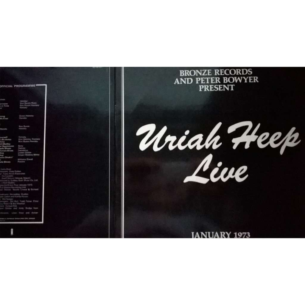 Live By Uriah Heep Double Lp Gatefold With 0711m Ref 119370850