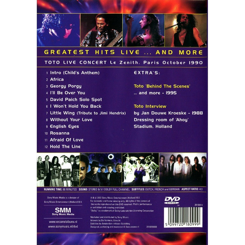Greatest hits live    and more by Toto, DVD with retro-discman