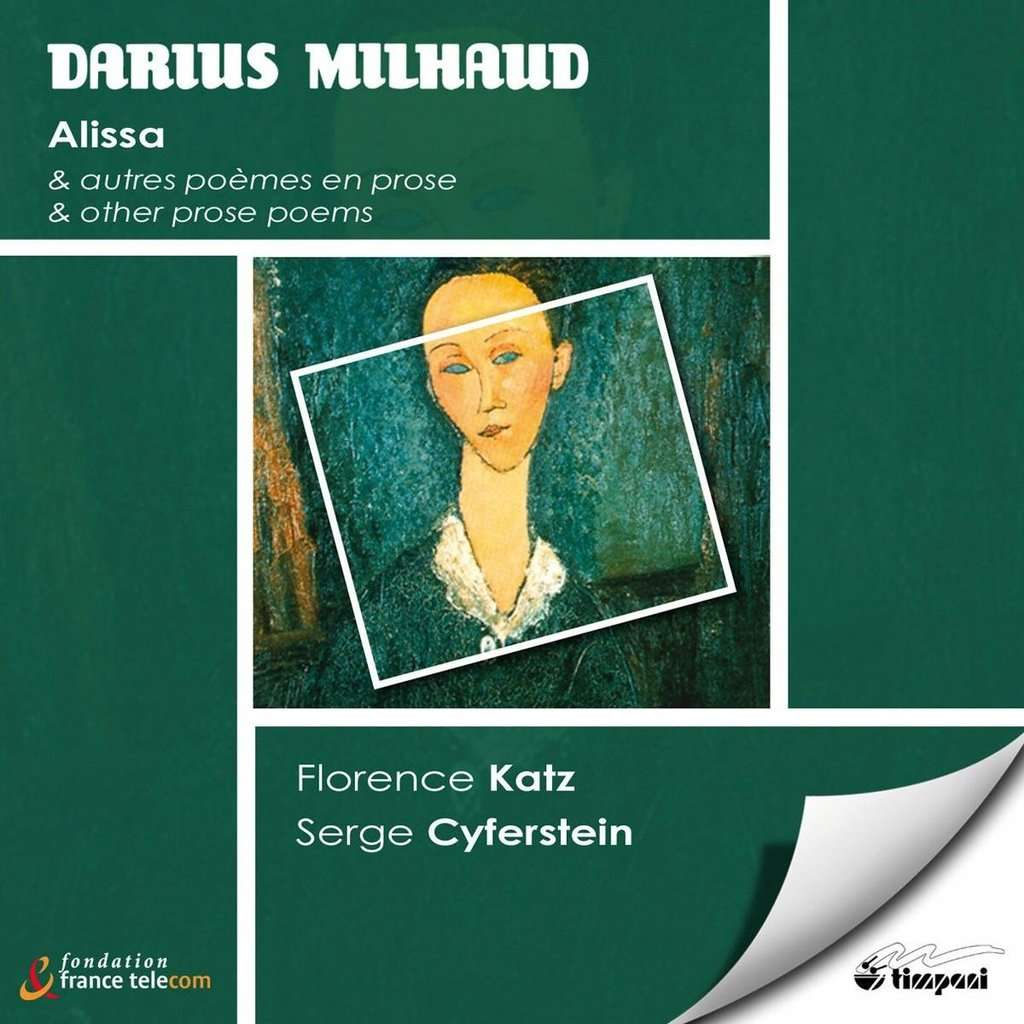 Milhaud Darius Alissa Other Prose Poems Serge Cyferstein Florence Katz