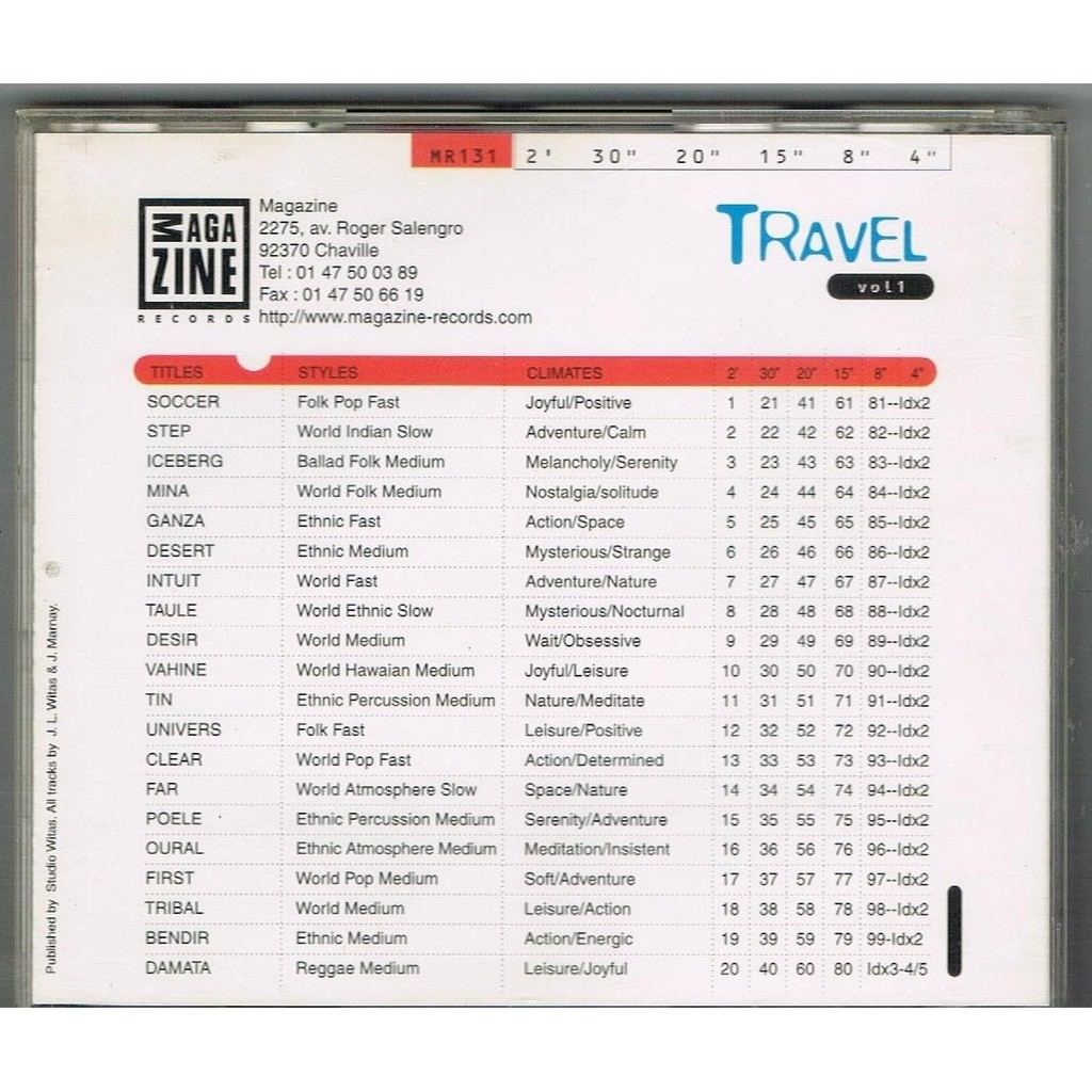 J.L Witas - J. Marnay Travel volume 1