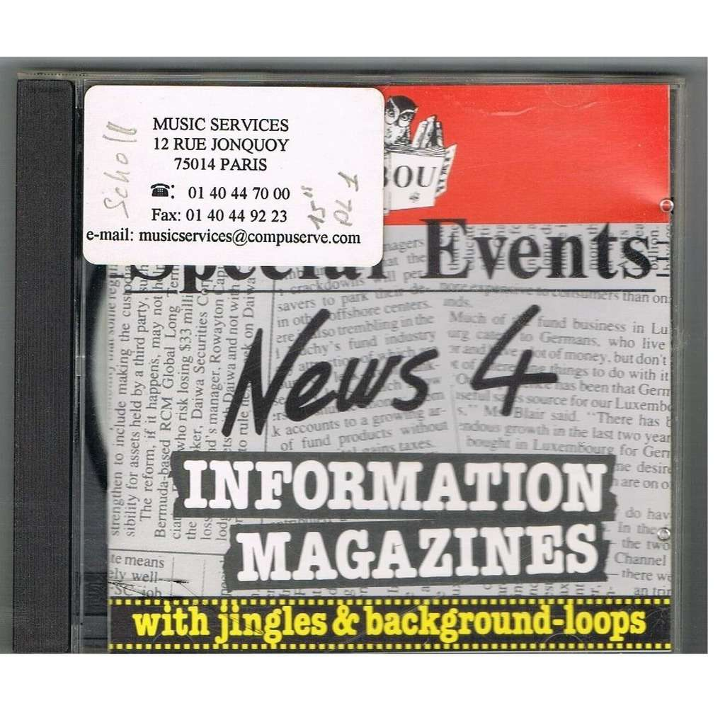 S. Marshall, T. Chapman, G. Shess, V. Adam Spécial Events - News 4 Information magazines